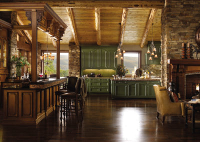 Wood-Mode Mountain Retreat Kitchen Design
